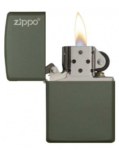 Zippo Green Matte Logo Brichete Zippo Zippo Manufacturing Company