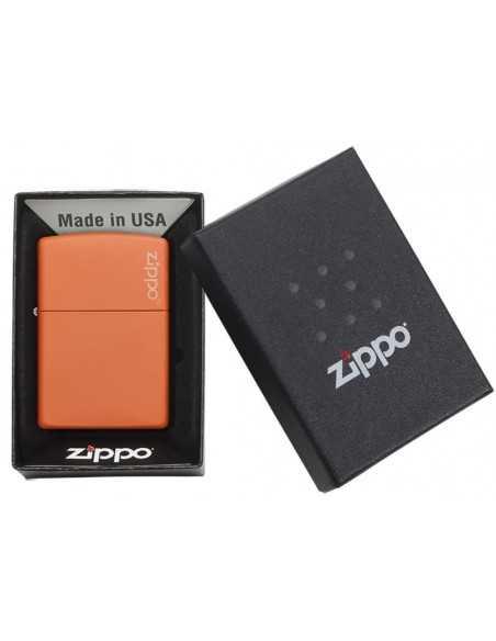 Zippo Orange Matte Logo Brichete Zippo Zippo Manufacturing Company