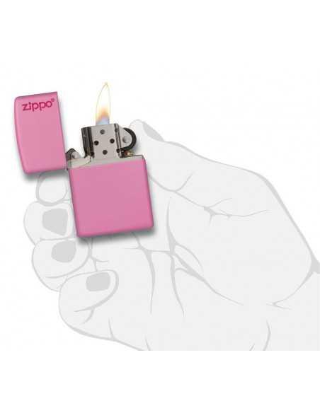 Zippo Pink Matte Logo Brichete Zippo Zippo Manufacturing Company