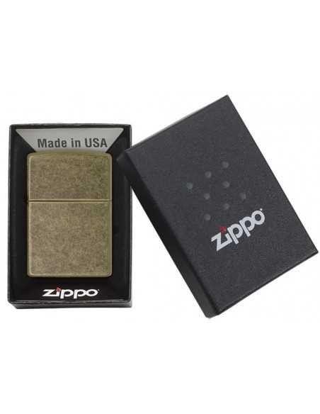Zippo Plain Antique Brass Brichete Zippo Zippo Manufacturing Company