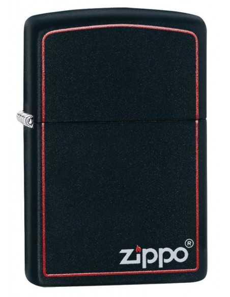 Zippo Black Matte Red Border Brichete Zippo Zippo Manufacturing Company