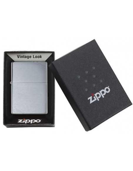 Zippo Vintage Brushed Chrome Slashes Brichete Zippo Zippo Manufacturing Company