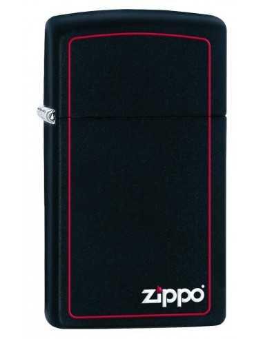Zippo Black Matte/Red Border Slim Brichete Zippo Zippo Manufacturing Company