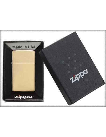 Zippo High Polish Brass Slim Brichete Zippo Zippo Manufacturing Company