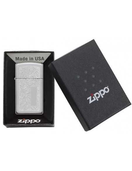 Zippo Venetian Chrome Slim Brichete Zippo Zippo Manufacturing Company