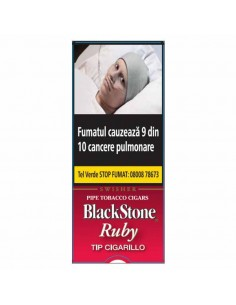 Blackstone Tip Cigarillos Ruby 5 ( Cherry ) Cigarillos