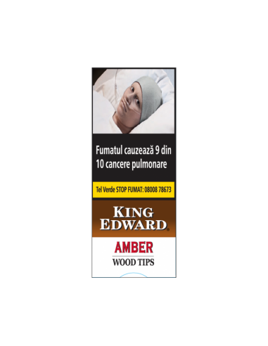 King Edward Wood Tips Amber (Vanilla) (5) Cigarillos