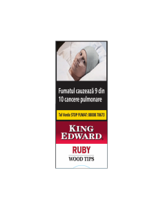 King Edward Wood Tips Ruby (Cherry) (5) Cigarillos