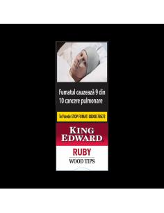 King Edward Wood Tips Ruby (Cherry) (5) Cigarillos
