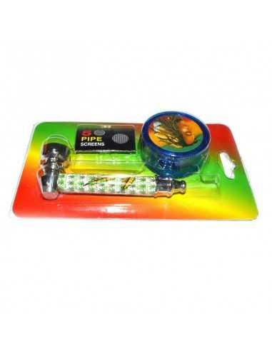 Set mini pipa si grinder plastic Bob Toro Grinder