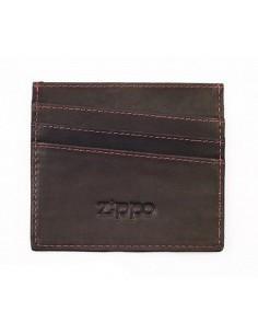 Suport Zippo pentru Carduri Piele Maro Inchis Portofele Zippo Manufacturing Company