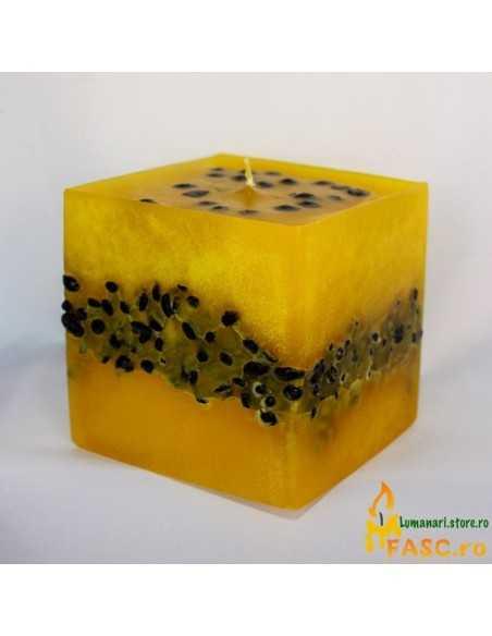 Lumanare Cubix cu Cafea Lumanari Decorative FASC