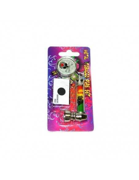 Set mini pipa metal si grinder 1 Iron Cross Toro Grinder