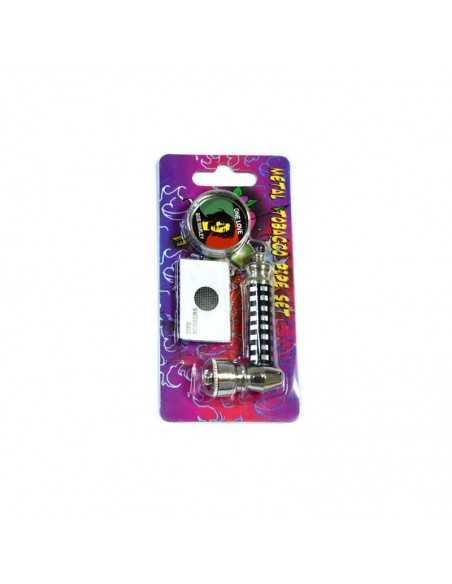 Set mini pipa metal si grinder 2 Rasta Toro Grinder