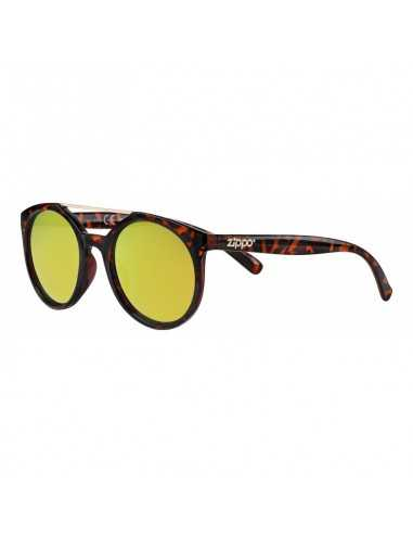 Ochelari de Soare, Zippo Yellow Mirror Circular Sunglasses with