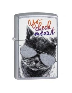 Zippo Cat with Glasses Brichete Zippo Zippo Manufacturing Company