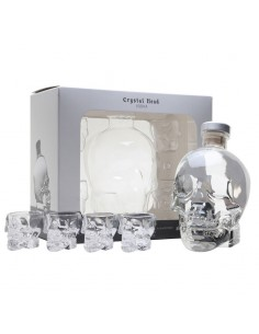 Vodca, Crystal Head + 4 shot glass 40% 0.7l