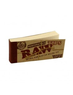 Filtre rulat RAW din carton - Filter Tips WIDE Perfored (50) Foite de Rulat