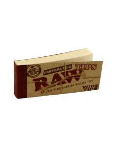 Filtre rulat RAW din carton - Filter Tips WIDE Perfored (50) Foite de Rulat